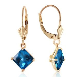 LEVERBACK EARRING WITH NATURAL BLUE TOPAZ